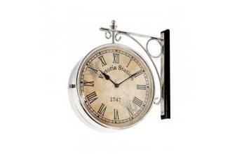 Double-Sided Wall Clock / Station Clock