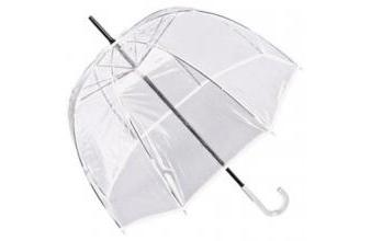 Jean Paul Gaultier womens umbrella transparent look with white border