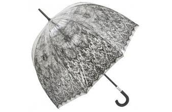 Jean Paul Gaultier womens umbrella transparent look with art print